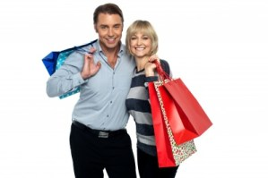 husband and wife-shopping