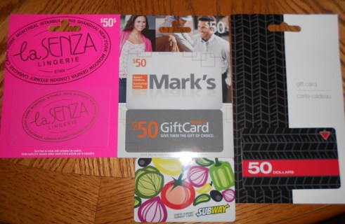 gift cards canada