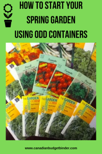 how to start your spring garden using odd containers