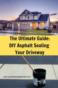 DIY asphalt Sealing