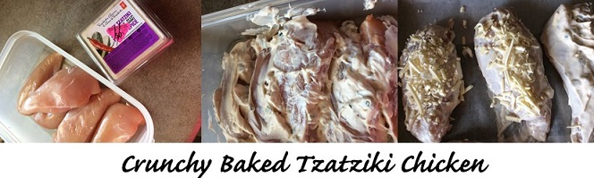 Crunchy baked tzatkiki chicken breasts