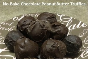 No-Bake Chocolate Peanut Butter Truffles