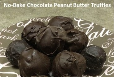 No bake chocolate peanut butter truffles