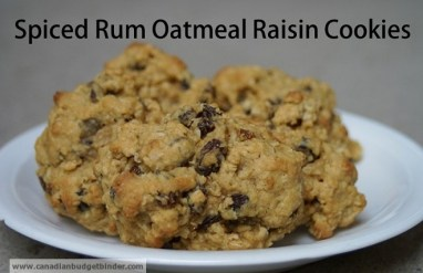 Spiced Rum Oatmeal Raisin Cookies