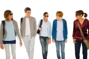 student shopping group
