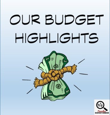 OUR BUDGET HIGHLIGHTS