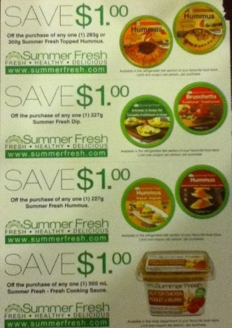 Summerfresh dips coupons 2015