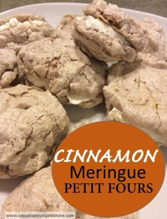 cinnamon meringue petit fours