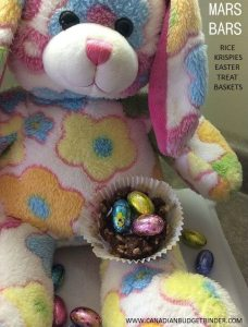 MARS Bar Rice Krispies Treat Easter Baskets WITH BUNNY