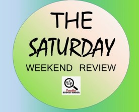 The Saturday Weekend Review logo- texting