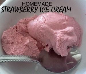 homemade strawberry ice cream Pat