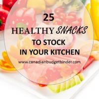 25 healthy snacks to stock in your kitchen