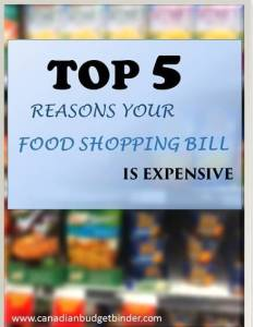 Top 5 Reasons Your Food Shopping Bill Is Expensive: The Grocery Game Challenge #2 May 10-17, 2015