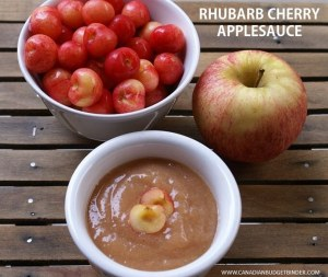 Rhubarb Cherry Applesauce