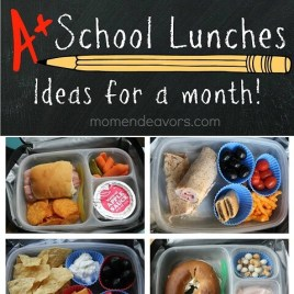 school lunches for a month