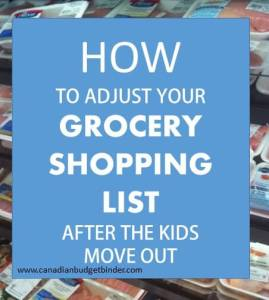How To Adjust Your Grocery Shopping List After The Kids Move Out : The Grocery Game Challenge #1 Sept 7-13, 2015