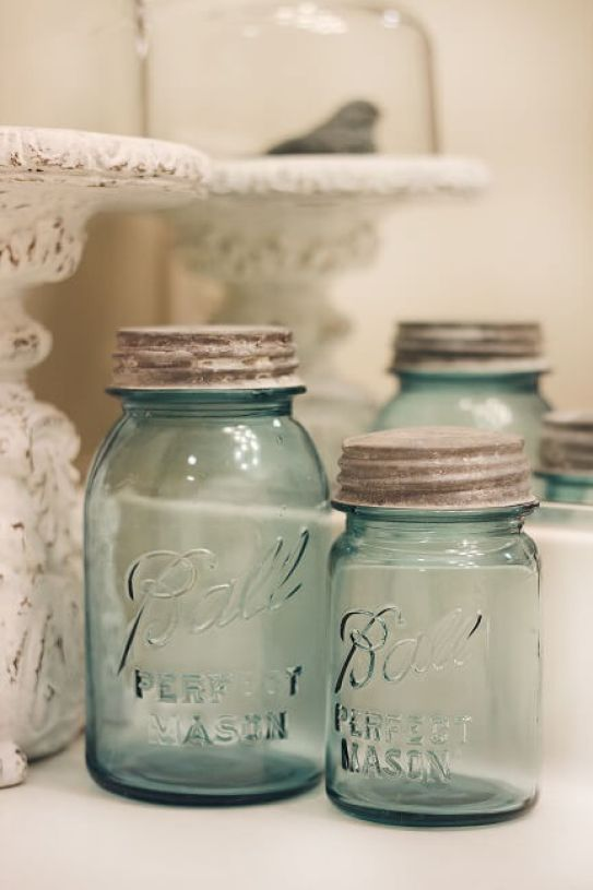 empty canning jars