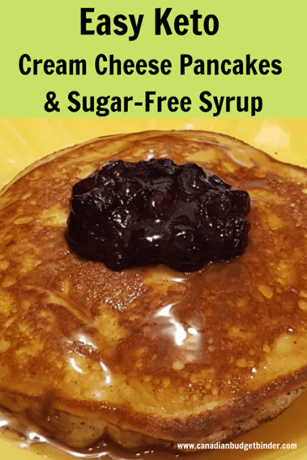 Easy Keto Cream Cheese Pancakes Sugar-Free Syrup-1