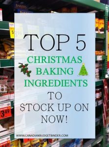 Top 5 Christmas Baking Ingredients to Stock Up On Now : The Grocery Game Challenge #1 Nov 2-8, 2015