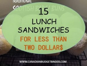 15 lunch sandwiches for under 2 dollars