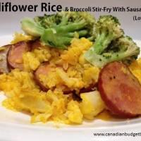 cauliflower rice and broccoli stir fry with sausage 4(1)
