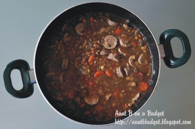 Italian soup with sausage