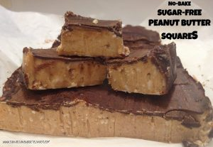 No-Bake Sugar-Free Peanut Butter Squares (Low-Carb)