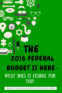 The 2016 Federal Budget is in:  What Does it Change for You?