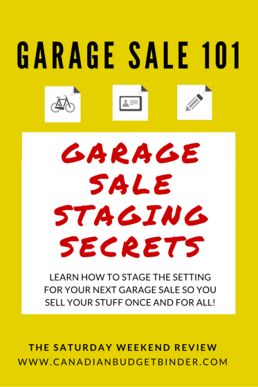 Garage Sale Staging Secrets
