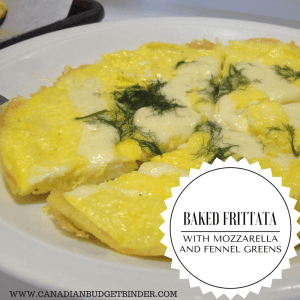Baked Frittata with Mozzarella and Fennel Greens (Low-Carb)