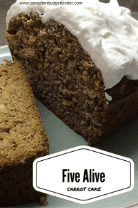 Five Alive Carrot Cake + Pre-Made Snack Cake Mix