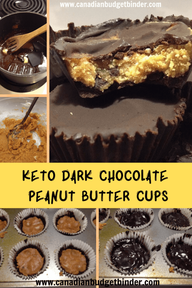 how to make keto dark chocolate peanut butter cups