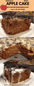 Magically Moist Apple Cake with Butter Rum Raisin Glaze