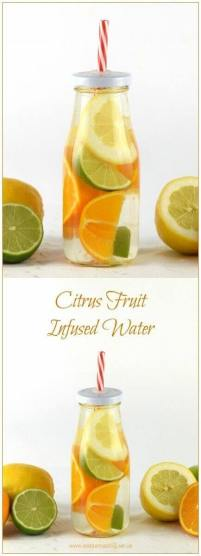 citrus fruit infused water