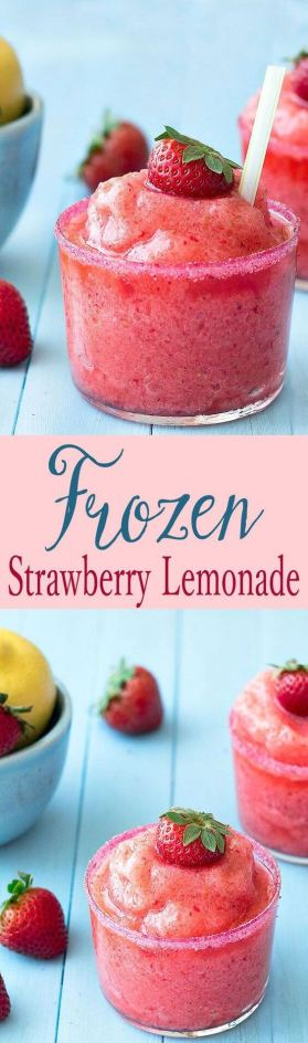frozen strawberry lemondade