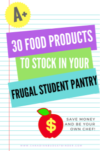 30 Must-Have Student Food Pantry Staples : The Grocery Game Challenge 2016 #1 Aug 1-7