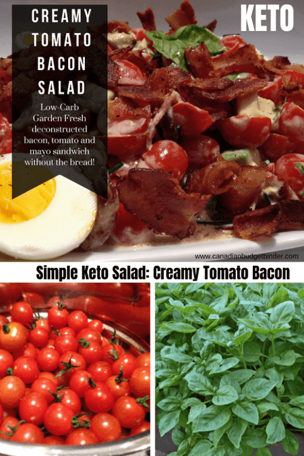 keto tomato bacon salad