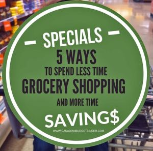 spend less time grocery shopping and more time saving