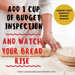 Add 1 Cup of Budget Inspection And Watch Your Bread Rise  : Our August 2016 Budget Report