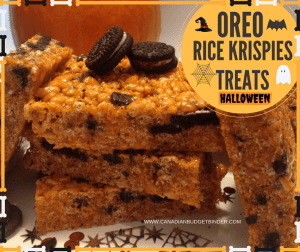 Spooky Halloween Oreo Rice Krispies Treats