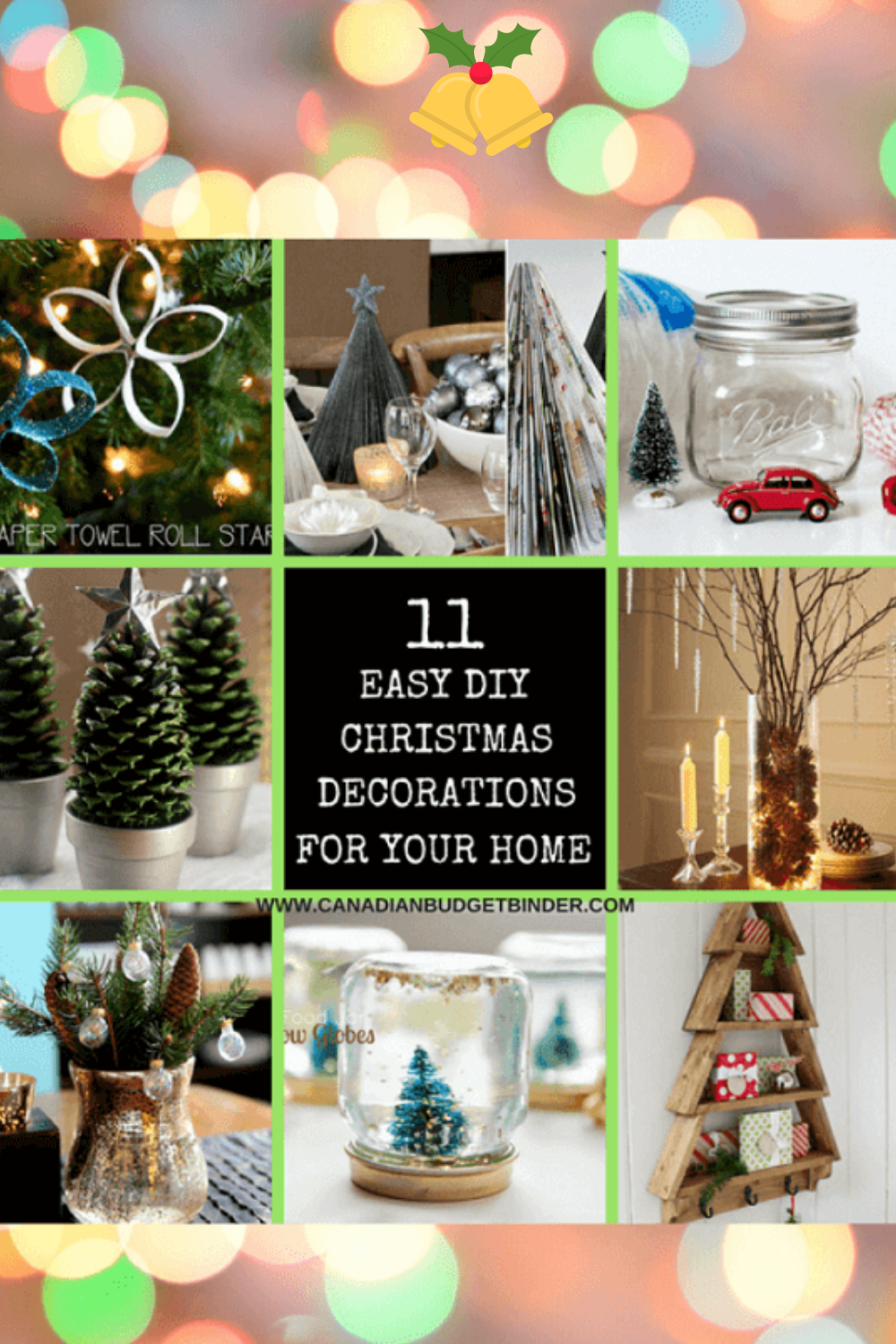 11 DIY Easy Christmas Decorations For Your Home : The Saturday Weekend Review #199