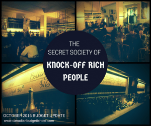 The Secret Society Of Knock-Off Rich People : Our October 2016 Family Budget Update