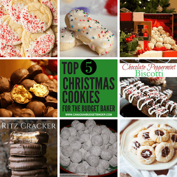top 5 christmas cookies for the budget baker