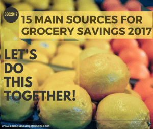 15 Main Sources For Grocery Savings 2017 You Should Know About : The Grocery Game Challenge 2016 #4 Dec 26-Jan 1