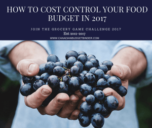 How To Cost Control Your Food Budget In 2017-Join The Grocery Game Challenge 2017 #1 Jan 2-8