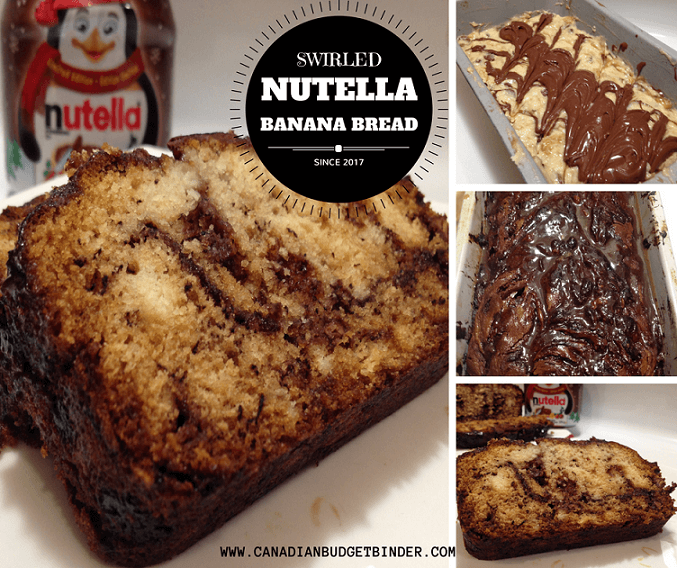 Swirled Nutella Banana Bread Canadian Budget Binder