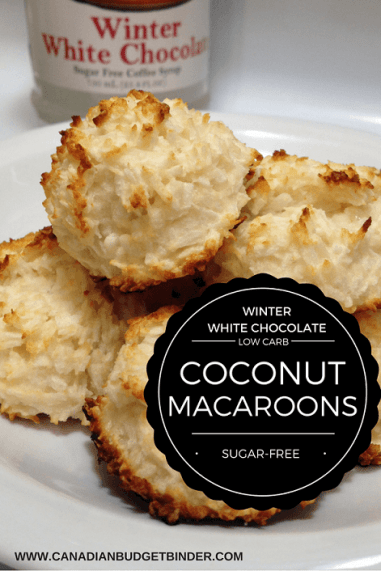WINTER WHITE CHOCOLATE LOW CARB MACAROONS PINTEREST