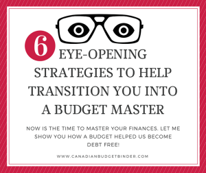 6 Eye-Opening Strategies To Help Transition You Into A Budget Master : Our December 2016 Budget Update