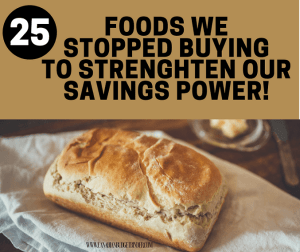 25 Foods We Stopped Buying To Strengthen Our Savings Power : The Grocery Game Challenge 2017 #4 Feb 20-26