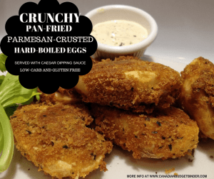 Crunchy Pan-Fried Parmesan Crusted Hard-Boiled Eggs (Low-Carb) (Gluten-Free)